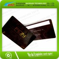 Best Clear Frosted Plastic Business Cards with White Signature Strip wholesale
