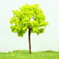 Best Railway Layout Miniature Model Trees Yellow Green Street Wire Tree 7cm wholesale