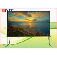 China Larger Room Front Rear Fast Fold Projector Screen 300 Inch With Aluminum Frame on sale