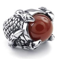 Best Tagor Jewelry Super Fashion 316L Stainless Steel Casting Rings Collection PXR030 wholesale