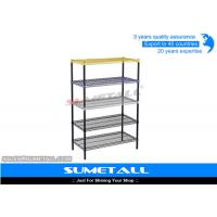 Best Heavy Duty Steel 5 Tier Wire Shelving With Powder Coated Colorful Surface wholesale