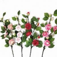 Buy cheap Artificial Camellia Flower with 90cm Height from wholesalers
