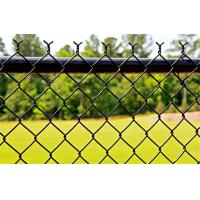 Buy cheap Commercial Black PVC Coated Chain Link Fence Fabric For School Sports Fence from wholesalers