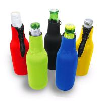 Best Cans Use and  Insulated Type 330ml Neoprene wine cooler size is 19cm*6.3cm, SBR material. wholesale