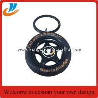 China Tyre/tire keychain custom your own logo car tyre key chain with 30mm ring on sale