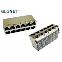 China 1000Base T Transformer Rj45 POE Magjack Right Angle 12 Port In 2 Rows on sale