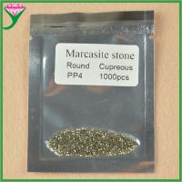 Best hot sell AAA grade pp4 round machine cut loose marcasite semi precious stone wholesale