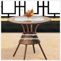 Best 12mm Beautiful Modern Circle Tempered Table Top Glass wholesale