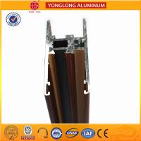 China Flat Open Wood Finish Aluminium Profiles 6005 / 6063 For Window on sale