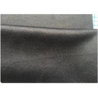 Best Pinstripe 360g Lightweight Wool Fabric Black With Royal Blue 30 W 45 P 25 V wholesale
