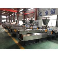 China Conical Twin Screw Extruder / Plastic Extrusion Plant Anti Interference on sale