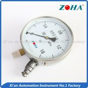 China Mini Electrical Resistance Pressure Gauge / Transmissible Differential Pressure Gauge on sale