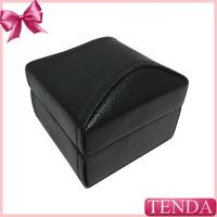 Best Modern Customized Handmade White Black Red Velvet Leatherette Paper PU Leather Earring Ring Box wholesale