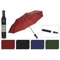 8 Windproof Ribs Bottle Shaped Umbrella Manual Open 105cm Dia Protect Rain / Sun