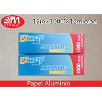 Best Premium Catering Aluminium Foil Roll 12In X 12 Micron X 1000Ft With Cutting Edge wholesale