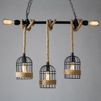 China Loft Industrial Iron Metal Cage Ceiling Light Cord E27 Antique Rust Lights on sale