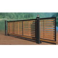 Residential Wooden Cladded Motorized Automatic Sliding Gates , Anti-Climb Photo Cell