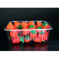 Best Disposable plastic fruit vegetable food packaging tray 500 grams strawberry packaging tray PET plastic box for fruit wholesale