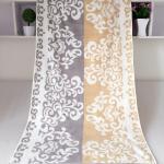 Best Rectangular Royal Velvet Cotton Bath Towels Reversible Solid Dyed Dobby wholesale