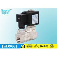 China Stainless Steel Solenoid Operated Relief Valve , Fast Low Power Solenoid Valve on sale