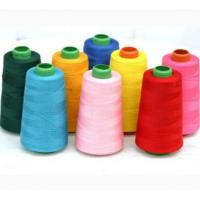 Best Embroidery Dyed Polyester Yarn 20 / 2 100% Polyester Sewing Thread For Jeans wholesale