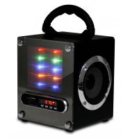 Best Led Light Outdoor Portable Stereo Speakers Subwoofer Box Active Audio # JS503A wholesale
