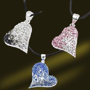 Best 925 Silver Jewelry Heart Shape Crystal Pendants Beautiful Pendant for Gift (PSL3377) wholesale