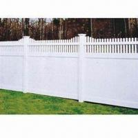 China PVC privacy fence with top picket, UV-resistant and lead-free on sale