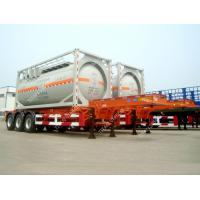 Best Tri Axle 20ft  ISO Tank Container Transport Skeletal Chassis Semi Trailer wholesale