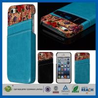 Best Flower Leather Pocket Back Hard Iphone 5 5S Apple Cell Phone Cases With Card Holder wholesale