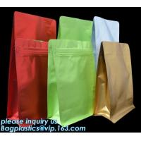 Best Coffee Stand Up Zip Lock Bags Aluminum Foil Food Packaging Metallized Standing wholesale