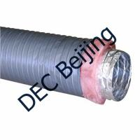Quality 6 inch Insulated flexible duct low cost insulated aluminum foil flexible duct for HVAC for sale