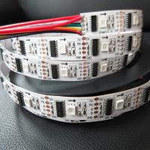 Best 5v 12v 24v DMX512 5050 rgb white full color DMX Signal 32pixels 48pixels rgb addressable led strip with dmx512 IC wholesale