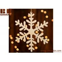 Best Unfinished Wood Laser Cut Snowflake Ornament Christmas tree ornaments Holidays Gift Ornament wholesale