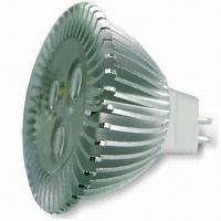 China 12V DC High-power MR16 LED Bulb with 3W Power and 180 to 210lm Luminous Flux on sale