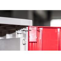 Cheap Corrosion Proof ABS Plastic Lockers Red Door 5 Tier Lockers With Clover Keyless for sale