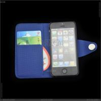 Best Litchi Grain Wallet Leather Case with Card Slot for iPhone 5 wholesale