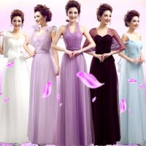 China White Purple Light Purple Color Halter Long Section Bridesmaid Dress Evening Dress TSJY126 on sale