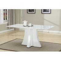 Best White Artificial Marble Topped Dining Table Customized Folede 1600*900*750mm wholesale