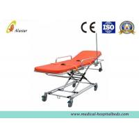 China First Aid Stretcher Aluminum Alloy Ambulance Stretcher Trolley Adjustable Stretcher ALS-S010 on sale