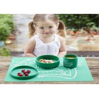 China Easy Washing And Cleanning Silicone Kitchen Tools Silicone Placemat For Kids on sale