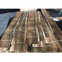 Best Sliced Cut Natural Acacia Wood Veneer Panels For Cabinets Nonuniform Color wholesale