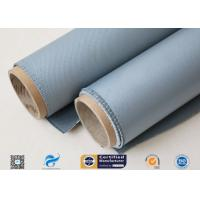 Best Thermal Insulation Materials 31OZ 0.85MM Grey Silicone Coated Fiberglass Fabric wholesale