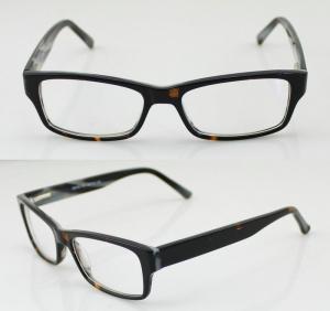 Best Hand Made Black / Brown Cool Acetate Mens Eyeglasses Frames For Promotion wholesale