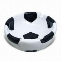 China Ceramic Dish in Football Shape, EEC Food Safe and Meets FDA Standard, OEM Orders are Welcome on sale