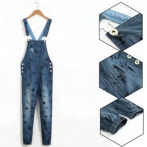 Best 8 - 16 Years Teen Girls Denim Clothes Suspender Jeans Bib Pants Custom Design wholesale