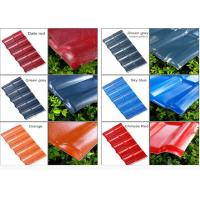 Best Color Coated Corrugated Pvc Synthetic Resin Roof Tile Spanish Style 1050mm Width wholesale