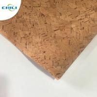 Best Non Woven Cork Leather Fabric Durable Contemporary Printed Natural Color wholesale