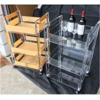 China Custom Acrylic Display Fixtures 3 Layers For Storage With Wheels Easy To Move on sale