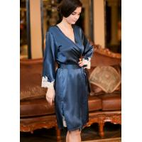 China pure silk bathrobe on sale